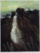 WILF ROBERTS limited edition (5/20) colour print - Ynys Mon landscape and houses with title to