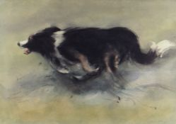 WILLIAM SELWYN limited edition (74/500) colour print - sheep-dog, signed fully in pencil, 42 x