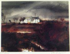 JOHN KNAPP-FISHER limited edition (457/500) print - entitled 'Farmhouse in Landscape', signed, 27