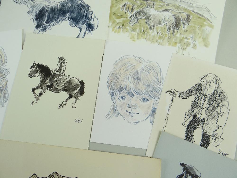 SIR KYFFIN WILLIAMS RA thirteen greeting cards or similar - various typical subject matter including - Image 4 of 18