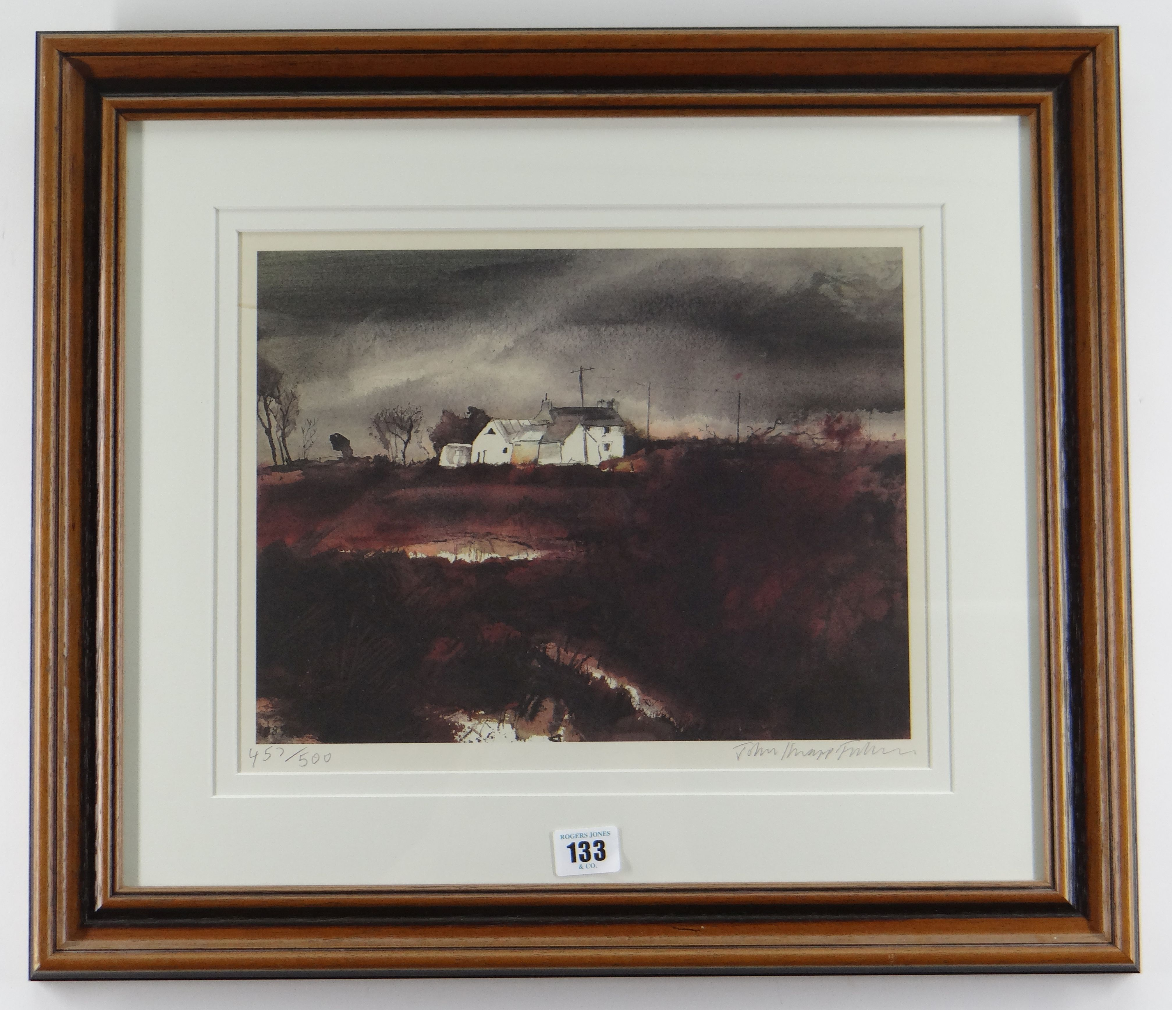 JOHN KNAPP-FISHER limited edition (457/500) print - entitled 'Farmhouse in Landscape', signed, 27 - Image 2 of 2