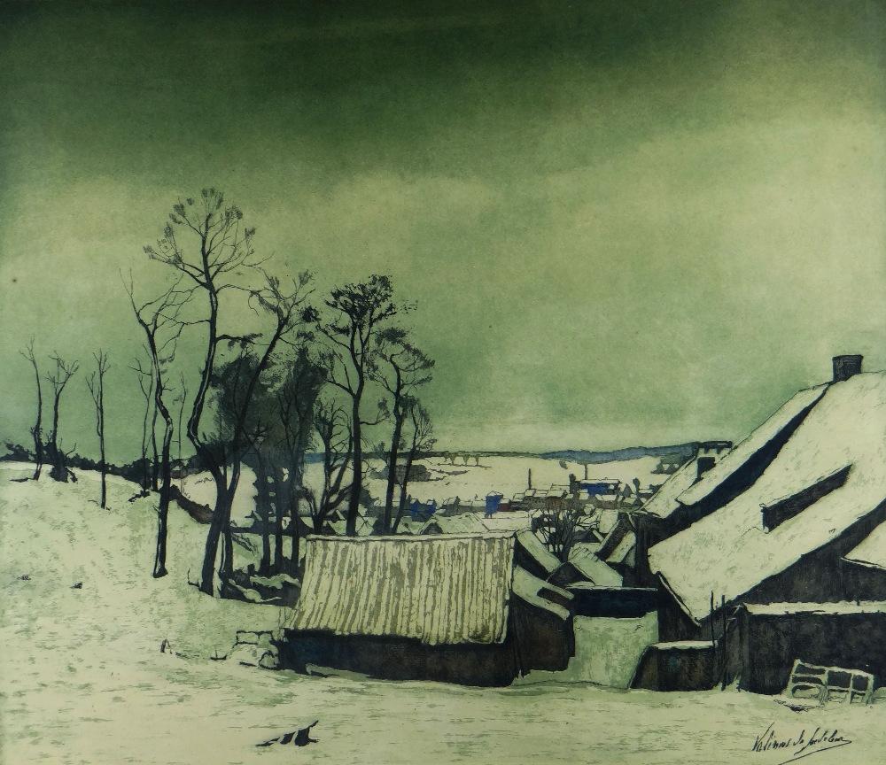 VALERIUS DE SAEDELEER limited edition (of 200) etching and aquatint épreuve d'artiste - entitled '