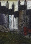 STEPHEN JOHN OWEN oil on board - terraced houses, signed with initials, 29.5 x 21cms Provenance: