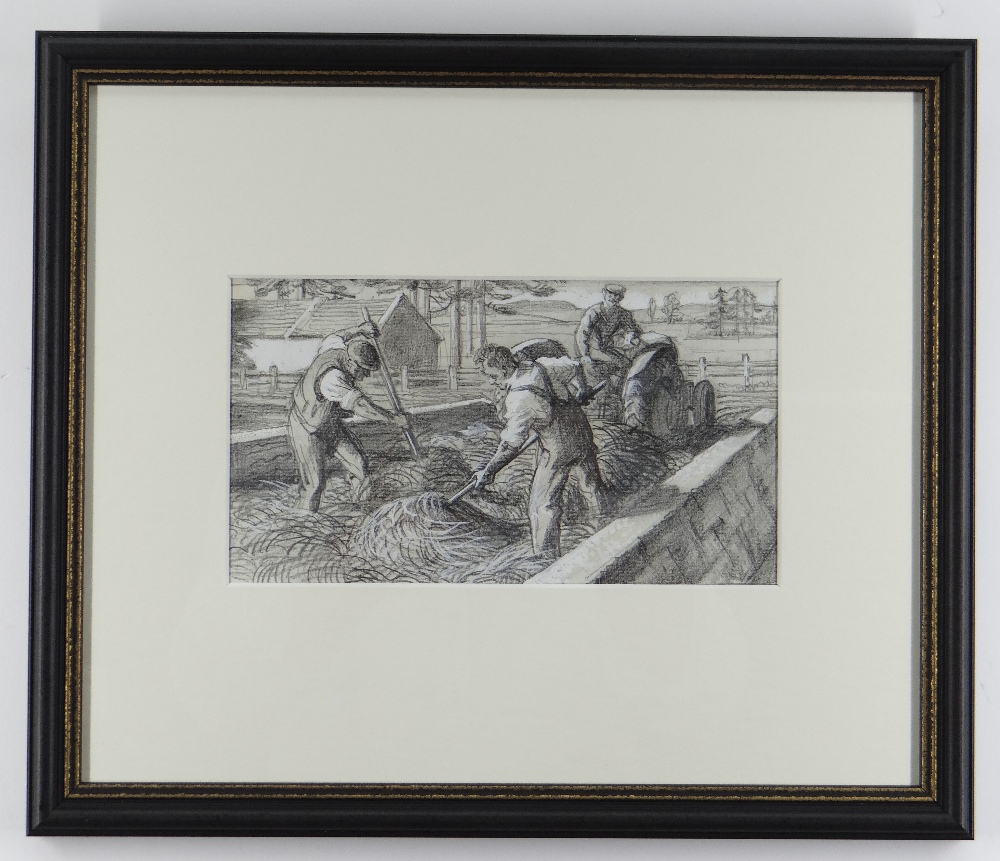 CHARLES FREDERICK TUNNICLIFFE OBE RA (1901-1979) pencil and tint - five illustrations of mid 20th - Image 7 of 11