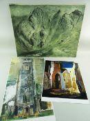 JOHN PIPER three prints - (1) titled St. Mary Le Port, Bristol 1940, 49 x 39cms, (2) titled