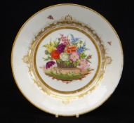 A SWANSEA PORCELAIN DISH FROM THE BURDETT-COUTTS SERVICE painted by James Turner at the Sims