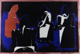 JOSEF HERMAN OBE RA Curwen Press limited edition (95/100) colour lithograph - entitled 'Four
