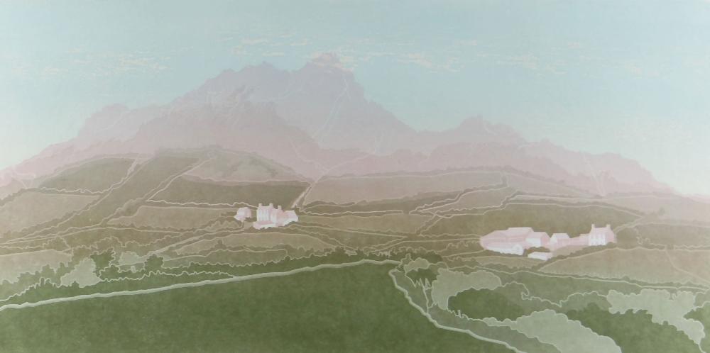 BERNARD GREEN limited edition (42/70) linocut - entitled in pencil 'Finding Light at Carn Llidi,