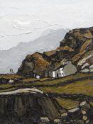 WILF ROBERTS oil on board - titled on plaque mounted to frame 'Hafod Tan Graig A'r Wyddfa yn Nyferyn