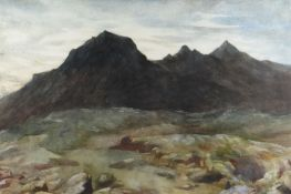 CHRISTOPHER WILLIAMS RBA watercolour - landscape, entitled verso 'Solitude' and with further