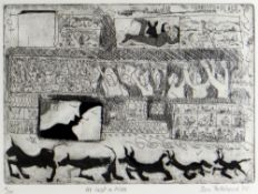 BEN PRITCHARD limited edition (6/24) etching with aquatint - title to margin 'At Last a Kiss',