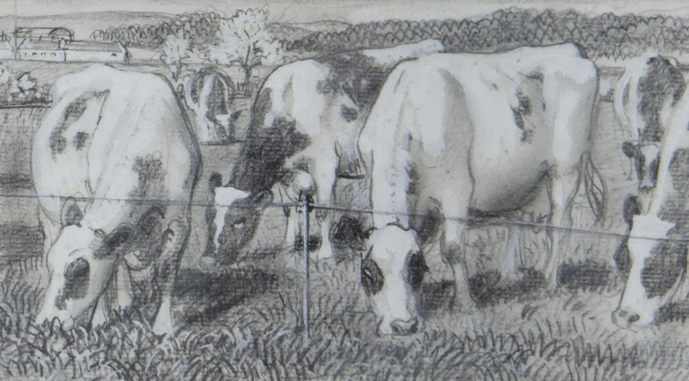 CHARLES FREDERICK TUNNICLIFFE OBE RA (1901-1979) pencil and tint - five illustrations of mid 20th - Image 4 of 11