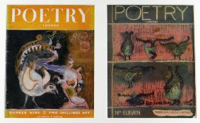 GRAHAM SUTHERLAND / HENRY MOORE two lithograph covers for issues of Poetry London magazine - 1943