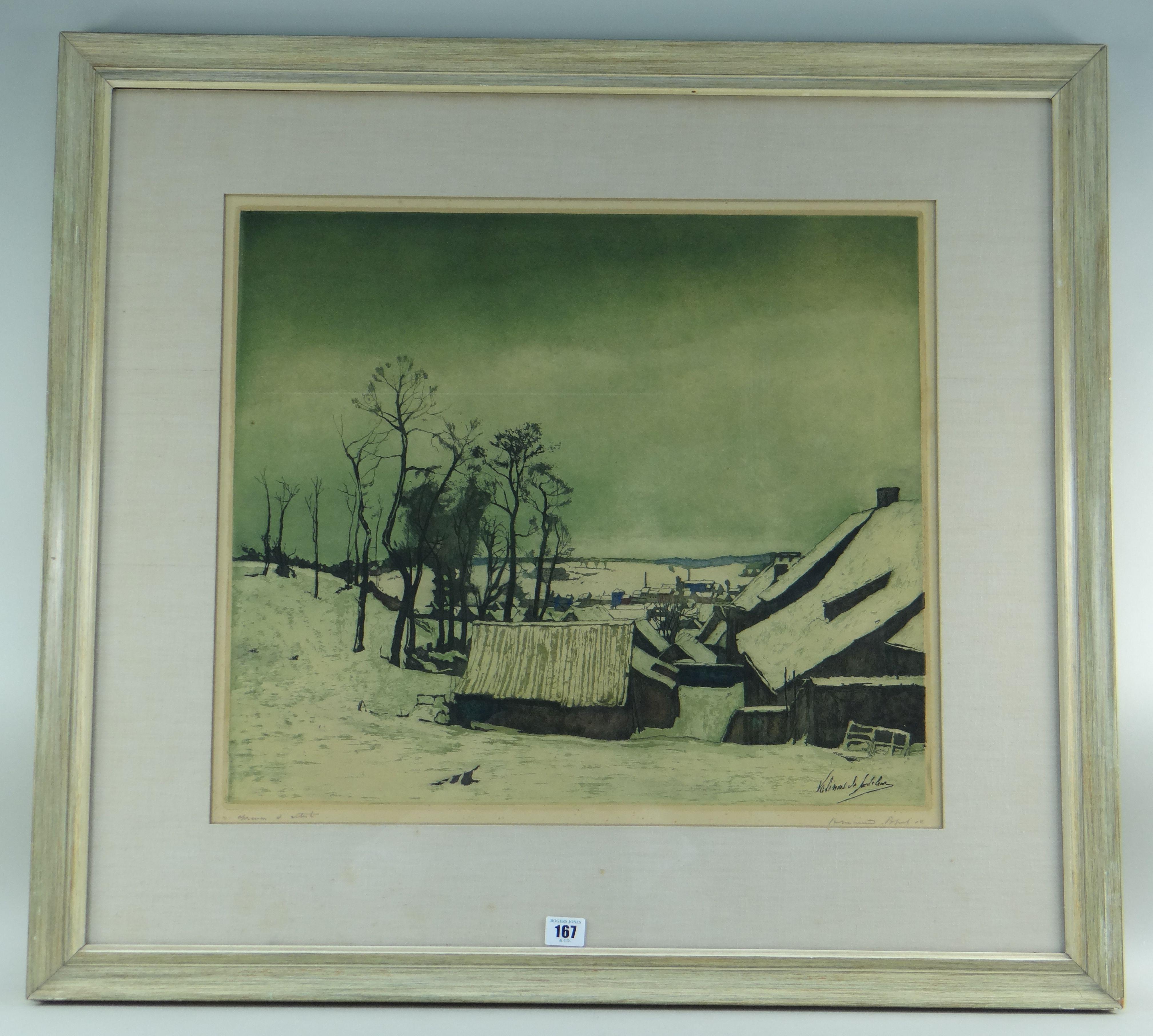 VALERIUS DE SAEDELEER limited edition (of 200) etching and aquatint épreuve d'artiste - entitled ' - Image 2 of 2