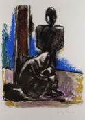 JOSEF HERMAN OBE RA limited edition (52/150) colour lithograph - entitled verso on Goldmark