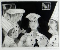 BEN PRITCHARD limited edition (3/50) etching with aquatint - title to margin 'Another Cheat', signed