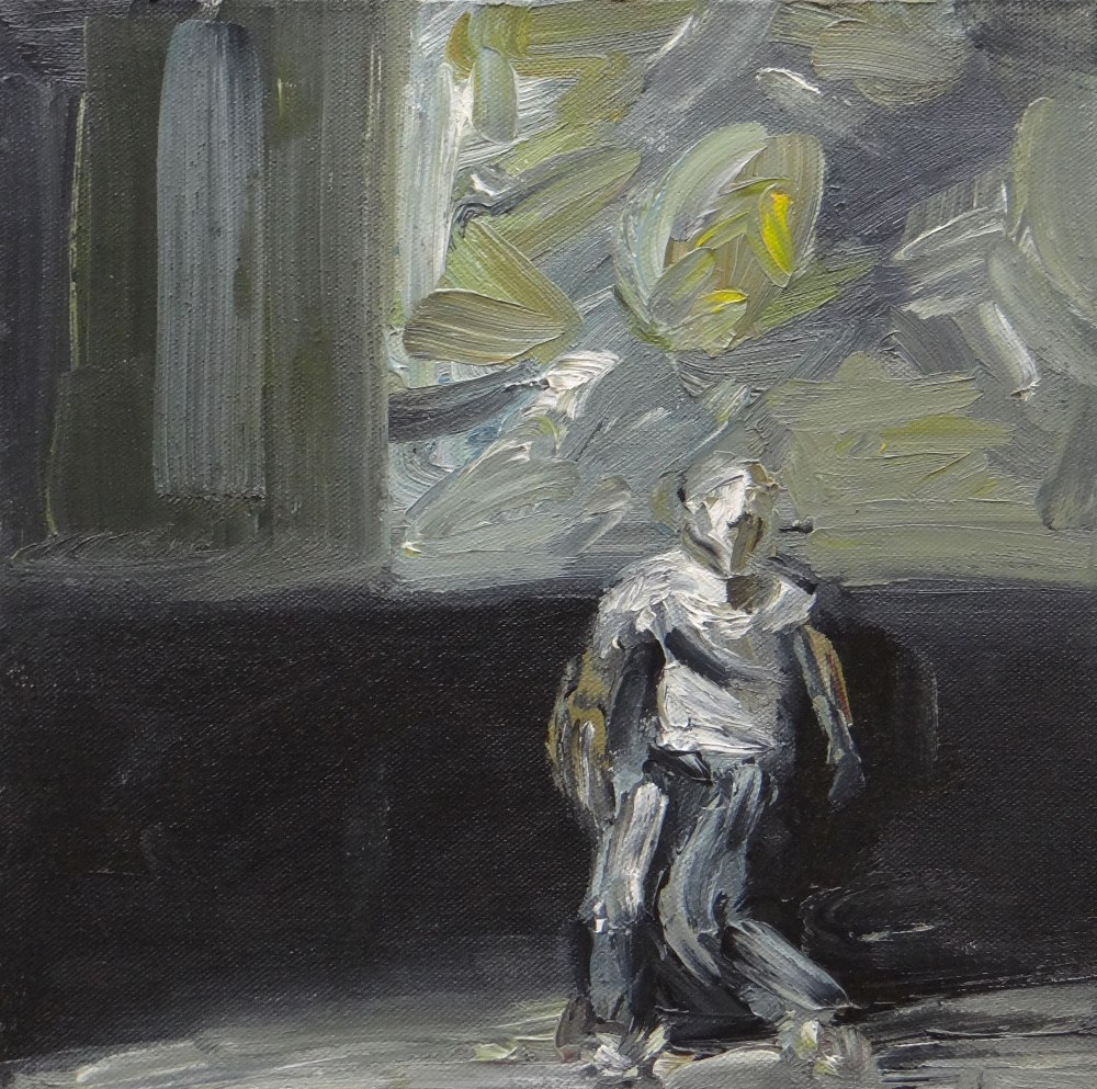 PAUL REES oil on canvas - entitled verso on Ffin-y-Parc gallery label 'Ryan's Monologue III', signed
