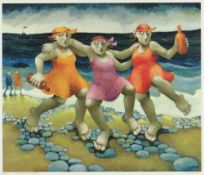 MURIEL DELAHAYE limited edition (62/275) colour print - 'Bank Holiday Monday', signed in pencil,