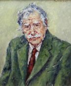 DAVID GRIFFITHS MBE oil on board - portrait of Sir Kyffin Williams, 60 x 50cms Provenance: private