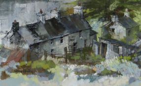 MOIRA HUNTLY pastel - North Anglesey farmstead, signed and entitled verso on original John Blockly