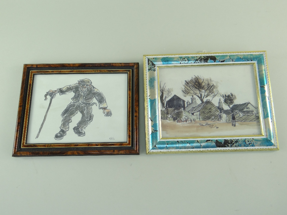 SIR KYFFIN WILLIAMS RA thirteen greeting cards or similar - various typical subject matter including - Image 18 of 18