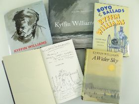 SIR KYFFIN WILLIAMS RA five hardback publications - 'Across the Straits' 1973, with signed