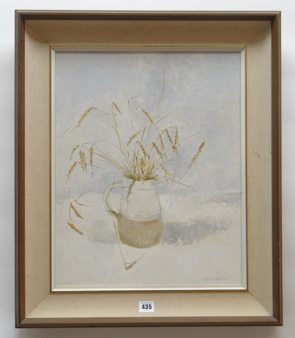 IOLA SPAFFORD oil on board - still-life, entitled verso 'Barley', signed, 48 x 39cms Provenance: - Image 2 of 2