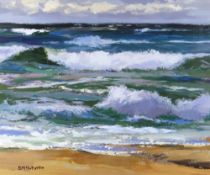 DONALD MCINTYRE acrylic - entitled verso 'Dark Sea Iona', signed, 49 x 60cms Provenance: from the