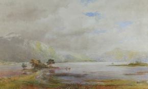 ALAN STEPNEY GULSTON watercolour - Killarney Lakes, signed, 31 x 51cms Provenance: Sotheby's 15th