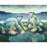 MURIEL DELAHAYE limited edition (33/275) colour print - 'The Prawn Catcher', signed in pencil, 37