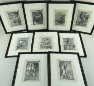CHARLES FREDERICK TUNNICLIFFE OBE RA (1901-1979) pencil and mixed media - set of eighteen mid 20th