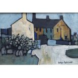 ARTHUR PRITCHARD oil on board - Ynys Mon village street, signed, 19 x 26cms Provenance: private