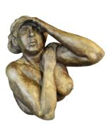 ED POVEY limited edition (8/51) patinated hollow bronze sculpture - entitled 'A Woman Searching