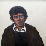 SIR KYFFIN WILLIAMS RA oil on canvas - head and shoulders portrait, entitled verso 'Willie',