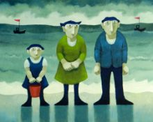 MURIEL DELAHAYE limited edition (7/195) colour print - 'The Visitors', signed in pencil, 39.5 x