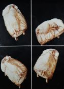 EVELYN WILLIAMS oil on paper - series of four, entitled 'Watching Myself Sleep I', dated 1993, 102 x