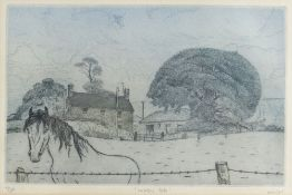 GORDON MILES limited edition (2/100) monocolour etching - titled in pencil 'Welsh Cob', signed, 20 x