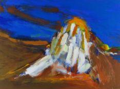 TOM NASH acrylic - Provence landscape at Mont Ventoux, signed, 33 x 43cms Provenance: directly