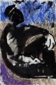 JOSEF HERMAN OBE RA mixed media - seated figure, 21 x 14cms Provenance: with Burstow & Hewett