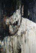 CARL MELEGARI large impasto oil on box canvas - head portrait, entitled 'Ernesto', 100 x 75cms
