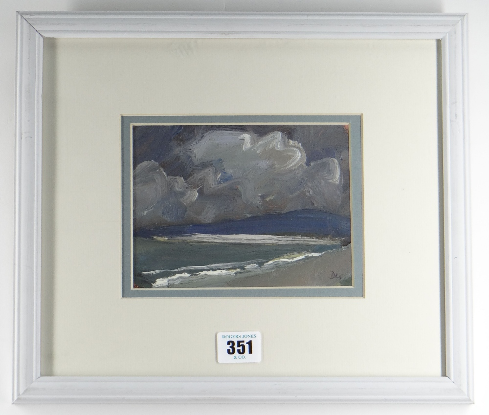 DAVID LLOYD GRIFFITH oil on panel - entitled verso 'Thunderstorm Pensarn Beach' and dated 2007, - Image 2 of 2