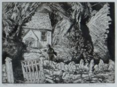 EDGAR HOLLOWAY limited edition (24/50) etching - titled in pencil 'Caepl-y-Ffin', signed, 20 x 27cms