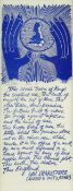 PAUL PETER PIECH limited edition (57/100) monoprint in blue - the famous passage spoken by John of