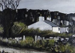 WILF ROBERTS limited edition (8/10) colour print - Ynys Mon farmstead, title to margin 'Ty