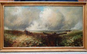 EDMUND MORISON WIMPERIS (British,1835-1900) oil on canvas - A Lock on the Ockment, Dartmoor,
