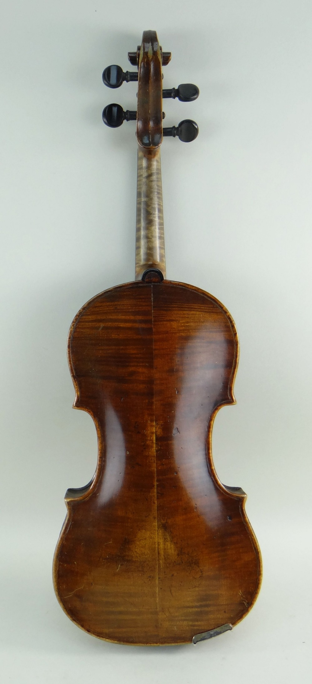 KLINGENTHAL SCHOOL VIOLIN, circa late 18th/early 19th Century, LOB 359mms, two-piece back of faint - Image 2 of 9