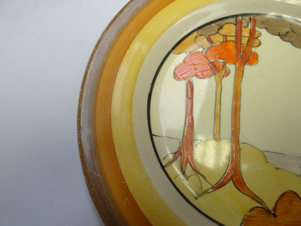 THREE CLARICE CLIFF ITEMS comprising 'Forest Glen' preserve jar & cover, 7.5cms high; 'Coral Firs' - Image 22 of 40