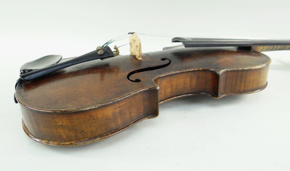 KLINGENTHAL SCHOOL VIOLIN, circa late 18th/early 19th Century, LOB 359mms, two-piece back of faint - Image 5 of 9