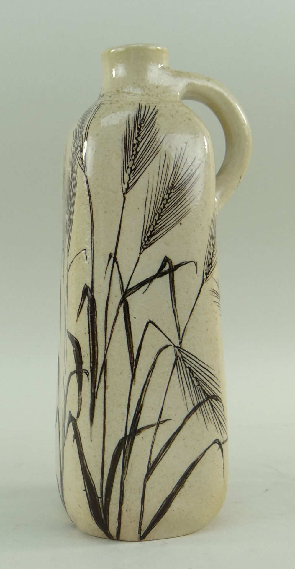 MARTIN BROTHERS STONEWARE FLASK, of square section with loop handle to shoulder, decorated all - Image 2 of 5