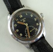 RARE GRANA WWII BRITISH MILITARY ISSUE WRISTWATCH, stainless steel case with manual wind movement,